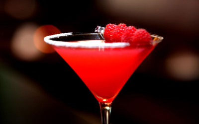 Raspberry Balsamic Martini